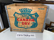 Vintage 1964 Canada Dry Wooden Crate Box Ginger Ale Nice Graphics 695a