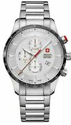 Wenger Classic Active Mens Silver Stainless Steel Chronograph Watch 01.9043.204c