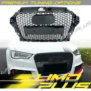 Rs3 Style Glossy Black Front Bumper Grille Mesh Grill For Audi A3 S3 8v 13-16