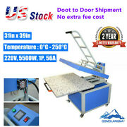 31inx39in Large Format Manual Clamshell Textile Thermo Transfer Heat Press 220v