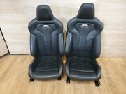 ✅ 15-20 Oem Bmw F82 M4 Coupe Front Left Right Sport Seats Black Leather Repaired