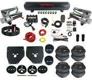 Complete Air Ride Suspension Kit 3/8 Evolve Manifold Bags And Tank For 63-72 C10