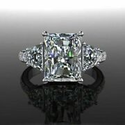 3.75 Ct Radiant Diamond Excellent Beauty Engagement Women`s Ring 14k Gold Ring