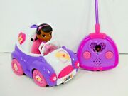 Doc Mcstuffins Check Up 'n Go Mobile Playset Remote Control Rc Car Working