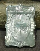Antique Victorian Sterling Silver Albert Coles Engraved Calling Card Case