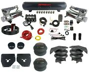 Complete Air Ride Suspension Kit 3/8 Evolve Manifold Bags And Tank For 73-87 C10