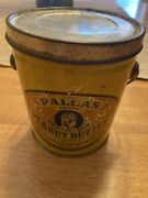 Pallas Peanut Butter Advertising Food Tin Pail Can