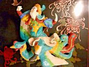 Chinese Roof Tile Warrior Riding Phoenix Bird Pottery Antique Sign 13