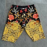 Gianni Versace Beach Bermuda Shorts Starfishes And Sea Shells Size It 48 From 1992