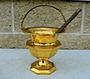 + Nice Antique Bucket And Sprinkler, Made By 'international Silver Co' + Cu744