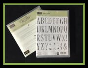 Stampin Up Letters For You Stamps Large Letters Framelits Dies New