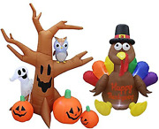 Two Halloween And Thanksgiving Party Decorations Bundle Includes 8 Foot Tall In