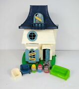 Vintage Hasbro Weebles Haunted Mansion 1976 With 3 Weebles Figures And Furniture