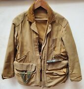 Vintage Duck Hunting Jacket Antique Distressed 20s 30s W/ Duck Call