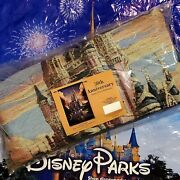 2021 Disney Parks 50th Anniversary Woven Tapestry Wall Hanging Cinderella Castle