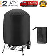 New Bbq Grill Cover For Electric Weber Charcoal Kettle Black Smoker Round Grills