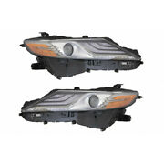 For Toyota Camry Xse Headlight Assembly 2019 Pair Driver And Passenger Side
