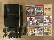 Sony Ps3 Playstation 3 60gb Lot Controller 9 Games Cecha01 Backwards Compatible