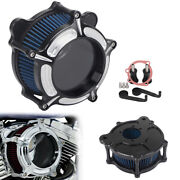 Air Cleaner Intake Filter Aluminum For Harley Street Road Glide King Fatboy Dyna