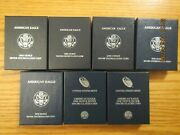 Complete Run 2006 - 2021 Burnished American Silver Eagles Collection 14 Coins C