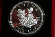 2014 50 Canadian Maple Leaf 5oz High Relief Silver Coin