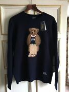 Pull Ours Neuf Large Neuf / Menand039s Teddy Bear Wool Knit Sweater