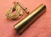 Vintage Antique Music Stand Lamp Light - Brass Shell - Made In Canada