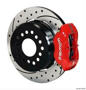 Wilwood Disc Brakes Green/snap Ring Black 1pc.81 Drilled Red