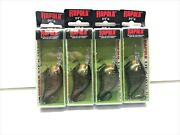 Rapala Dives To Dt-6 Rattlinand039 Lures - Crankbaits - Lot Of 4 - Mardi Gras- New