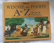 Disney Winnie The Pooh A To Zzz Picturebook Storybook Hc Collectible Vtg 1992