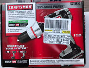 Craftsman 20 Volt Bolt On Drill Kit 00946133 4ah Battery And Charger ,