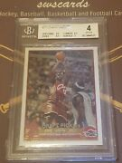2003-04 Topps Chrome Rookie Rc Lebron James 111 Cleveland Cavaliers Bgs 4 Vg-ex