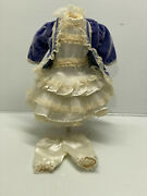 Vintage/antique French Jumeau German Doll Low Waist Dress For 18doll