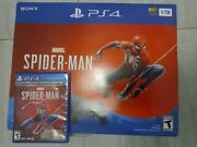 Spider Man Sony Playstation 4 Console Box Only Ps4 With Sticker Inserts