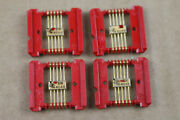 Lot Of 4 Texas Instruments 1960s Flat Pack Integrated Circuit Ic Gold Sn404b