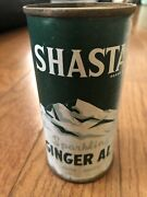 Rare Early Shasta Sparkling Ginger Ale Flat Top Soda Can