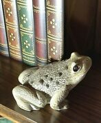 Vintage Signed 'art Collectibles' Ceramic Frog Toad Figurine   Cs21-555