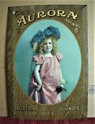 Aurora Brewing Co Tin On Cardboard Pre-prohibition Beer Sign 1904 Illinois