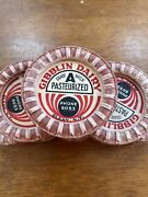 Lot Of 27 Vintage Milk Bottle Caps Gibblin Dairy. Olean, Ny. Early Phone Number