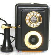 Western Electric Early Dial Metal Wall Restored Antique Telephone Circa 1920