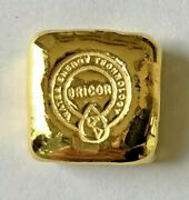 Gold 006 Of 100 Gold 1oz .9999 Bricor Hand Poured Gold Bar One Troy Oz.