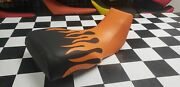 Suzuki Ltz 400 Seat Cover Fits For Year 2002 To 2010 Seat Cover Orange Flame