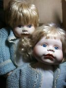Beauitful Twin Boy And Girl Collectable Porcelain Face Weight Body Dolls 19