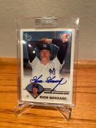 2003 Goose Gossage Autograph Topps Retired Auto On Card And Sealed Yankees