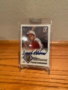 2003 Frank Robinson Autograph Topps Retired Auto On Card And Sealed Reds