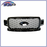 Front Radiator Grille Assembly For 2018-2020 Ford F-150 Agate Black
