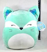 Squishmallow Rienne The Green Fox 18 Inch - Squishmallows Christmas Gift 18