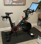 2021 Peloton Exercise Bike W/ Accessories Mat, Weights, Shoes, Monitor, +more
