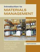 Introduction To Materials Management By Ann K. Gatewood, Steve Chapman, Tony K.