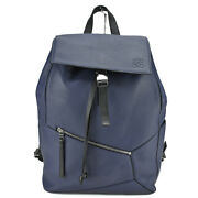 Loewe Puzzle Backpack Puzzle 324.12 Ruck Leather Navy Marine Menand039s